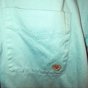 Ariat Shirts - Ariat long sleeved western rodeo shirt blue